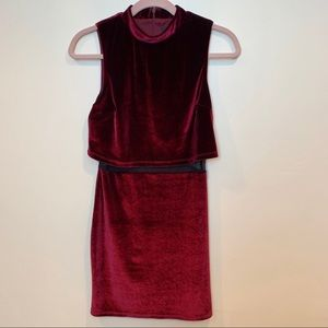 ASOS Stretch Velvet Mesh Mini Dress ~ SZ 2